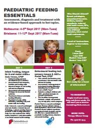 Paed Feeding Essentials 2017 Flyer