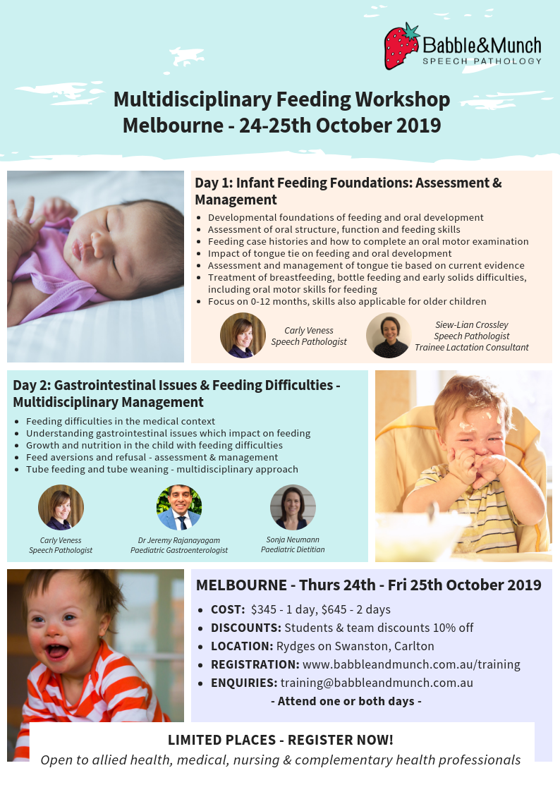 Melbourne Workshop Flyer 2019