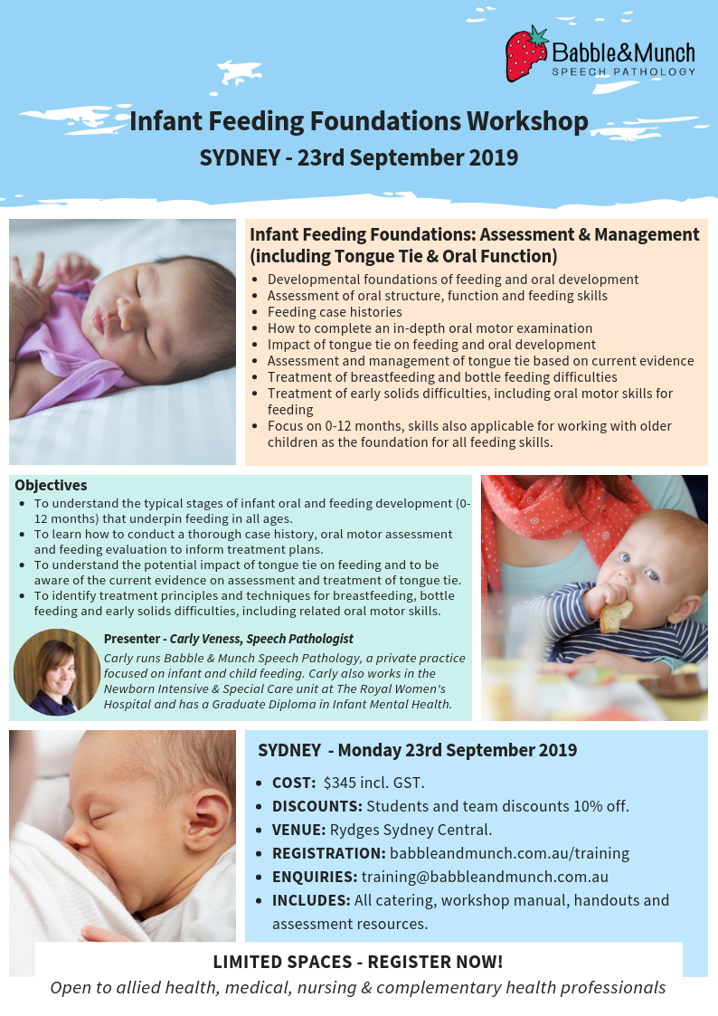 Sydney Workshop Flyer 2019